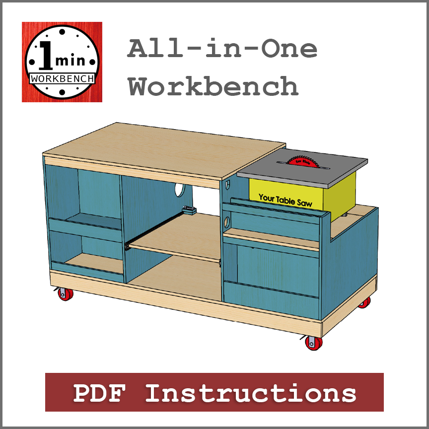 all in one workbench building instructions one minute workbench